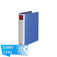 Combo 5 File đựng tài liệu A4S - 5cm - KING JIM 1475GSV còng ống cao cấp