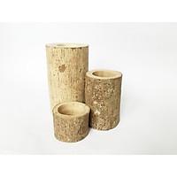 Set Bộ 3 khúc gỗ tự nhiên đa năngtrang trí nhà cửa, cắm hoa, để nến, đạo cụ chụp sản phẩm (5, 10, 15cm)
