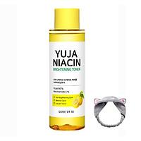 Nước hoa hồng dưỡng sáng da, làm mờ thâm Some By Mi Yuja Niacin Brightening Toner 150ml + Băng Đô Tai Mèo Xinh Xắn ( Màu Ngẫu Nhiên)