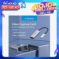 Hagibis Video Capture Card USB 3.0 4K 1080P HDMI-Compatible Video Game Grabber Record for Live Broadcast/Screen