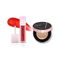 Son kem lỳ Touch In Sol Pretty Filter Chiffon Velvet Lip Tint + Phấn Nước Touch-In-Sol Pretty Filler Glam Beam Cover Cushion
