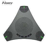 Aibecy USB Speakerphone Conference Microphone Omnidirectional Computer Mic 360° Voice Pickup with Mute Key for