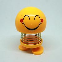 Bộ 3 Thú nhún Emoji Lò Xo lắc đầu hình biểu tượng cảm xúc