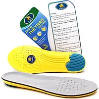 Lót giày thể thao EVA biết thở có rãnh chịu lực và gel chống thốn gót buybox BBPK26