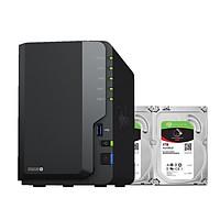 Combo: Thiết bị lưu trữ qua mạng DS220+ & 2 x Seagate HDD ST4000VN008 (Hàng chính hãng)