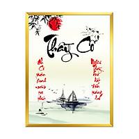 Tranh Treo Tường - Mẫu tranh in chữ thư pháp - Thầy Cô - TTC03 - Kích thước 30x40cm - Hàng Chính Hãng
