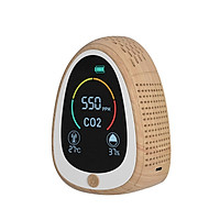 Air Quality Monitor CO2 Alarm Detector with LCD Screen Indoor Temperature Humidity Display Carbon Dioxide Tester 1400mAh