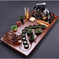 Bàn trà điện thông minh Long Quy - Ấm chén xanh