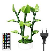 Magical Led Houseplant Decorative Plant Tree Light Lanp Multi-Colored Remote Control LEDs Bonsai Houseplant Light for