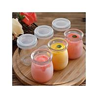 Bộ 6 Hũ Làm Sữa Chua Pudding Bằng Thủy Tinh Có Nắp Tiện Ích Hàng VNCLC