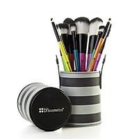 Bộ 10 Cọ Trang Điểm BH Cosmetics Pop Art Brush Set - Sọc trắng đen
