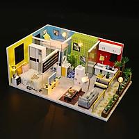 Mô hình nhà DIY Doll House Simple Life Kèm Mica Chống bụi