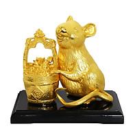 Tượng Chuột Tài Lộc mạ vàng - Quà tặng độc đáo cho khách hàng, doanh nghiệp, đối tác