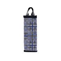 Túi giữ nhiệt bình nước caro xanh đen
