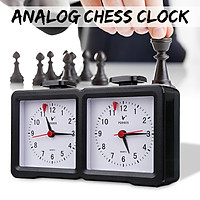 Analog Chess Clock I-GO Count Up Down Alarm Timer For Game Competition Tournamen - Black