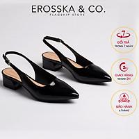 Giày cao gót slingback Erosska mũi nhọn da bóng kiểu dáng basic cao 4cm - EL012