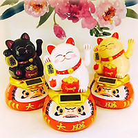 Mèo Thần Tài nhựa Daruma-Ước nguyện thành công 15cm