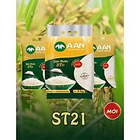 Gạo thơm A AN ST21 - đặc sản Sóc Trăng - bịch 5kg ( hàng chuẩn công ty) luôn mới