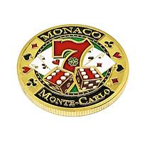 Gold Plated Poker Coin Commemorative Lucky Metal Souvenir Art