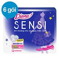 Combo 6 Băng Vệ Sinh Diana Sensi Night 29cm (Gói 4 Miếng)