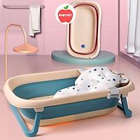 Chậu tắm cho bé, Chậu tắm gấp gọn cho bé kích thước lớn, có cảm ứng nhiệt babyjoymart