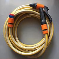 ️ Vòi tưới cây rửa xe 6m-7m-8m tay bóp tùy chỉnh nhiều chế độ 319498622-1622-3 mầu cam