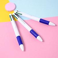 Combo gồm 30 bút bi 4 màu nhựa trắng cao cấp