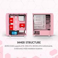 Vỏ Case máy tính mặt bên kính cường lực FANTECH CG80 AERO - Hàng chính hãng