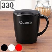Cốc inox giữ nhiệt nắp trượt, chống tràn Asvel Cafe Mug 330ml tặng mút rửa chuyên dụng Nội địa Nhật Bản