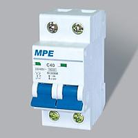 Cầu Dao Tự Động MCB Aptomat 2 Cực MPE – 40A – 6kA (MP6-C240)