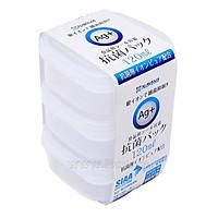 Bộ 3 chiếc Hộp Nhựa Đựng Thực Phẩm Kháng Khuẩn AG+ 120ml - Nội Địa Nhật