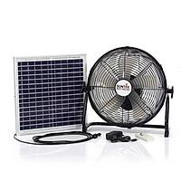 Quạt tích điện 2 trong 1 SUNTEK S98  sạc bằng năng lượng mặt trời - Hàng chính hãng