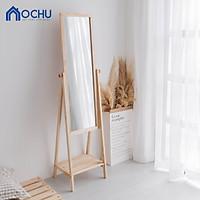 Gương Kệ Soi Toàn Thân Khung Gỗ OCHU - Mirror Shelf