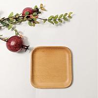 Khay vuông gỗ beech tự nhiên