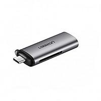 Đầu USB Type- C Đọc Thẻ SD/TF ( hợp kim nhôm)  - Hàng Chính Hãng Ugreen 50704