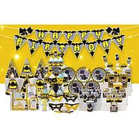 Set trang trí sinh nhật chủ đề BATMAN (Người Dơi)