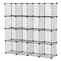 Tủ lưới lắp ghép đa năng 16 ô (147 x 147 x 37 cm)
