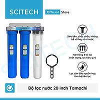 Bộ lọc nước sinh hoạt, bộ ba lọc thô 20 inch by Scitech (3 cấp lọc) - Hàng chính hãng
