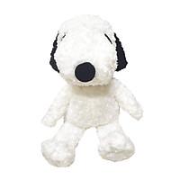 Gấu bông SNOOPY chính hãng - trắng đốm đen lông xù - dáng ngồi