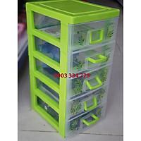 Tủ đựng linh kiện điện tử 5 ngăn 35x18x16cm - xanh lá