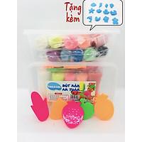 Hộp 10 màu có 5 khuôn chơi kèm bột nặn TAKACOL 100% an toàn cho bé