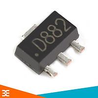 Sản phẩm Transistor NPN D882 3A-40V - CHÂN CẮM TO-126