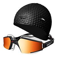 Kính Bơi Unisex Speedo Aquapulse Max 2 Mirror (Asia Fit) Black/L 270519 (Size One Size)