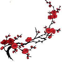 Sticker Thêu Ủi Họa Tiết Cây Đào MS773657