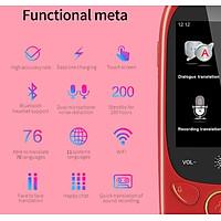 Portable Multi-language Voice Translator Smart Business Travel 45 Languages Translation Machine Translator