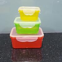 Bộ 3 Hộp Nhựa Đựng Thức Ăn 3 Màu