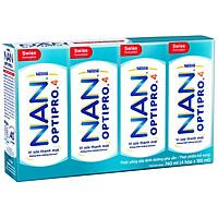 Lốc 4 Sữa Nước Nestlé NAN Optipro Công Thức Mới - CRM (185ml / Hộp)