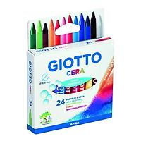Hộp sáp 24 màu Giotto Cera. Wax crayons - Ý