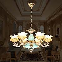 Đèn chùm pha lê nến cao cấp CN9819-6 thiết kế sang trọng, cổ điển 6 tay