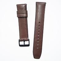 Dây da Hybird Size 22 cho Gear S3, Galaxy Watch Nâu